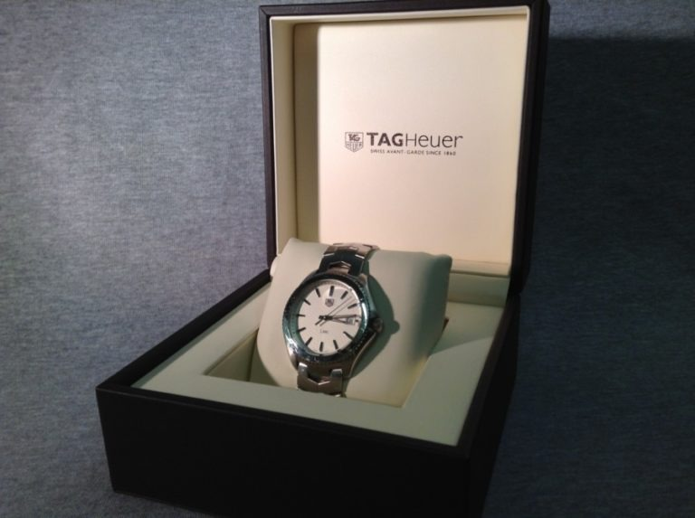 Tag Heuer watch in case
